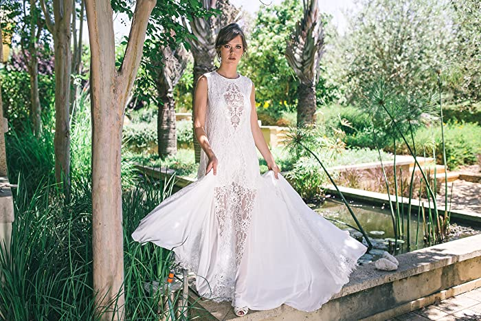 Amazon Hand Made Boho Lace Kaftan Bohemian Wedding Dress Handmade
