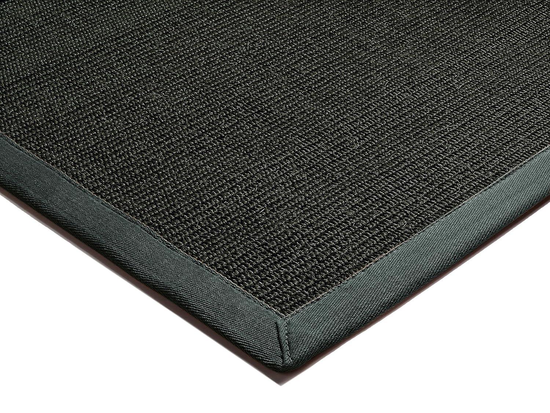 Moderner Designer Teppich Bordered Sura Rug 240x340cm Black with Grey Border Schwarz/Grau 100% Sura mit Bordüre Baumwolle