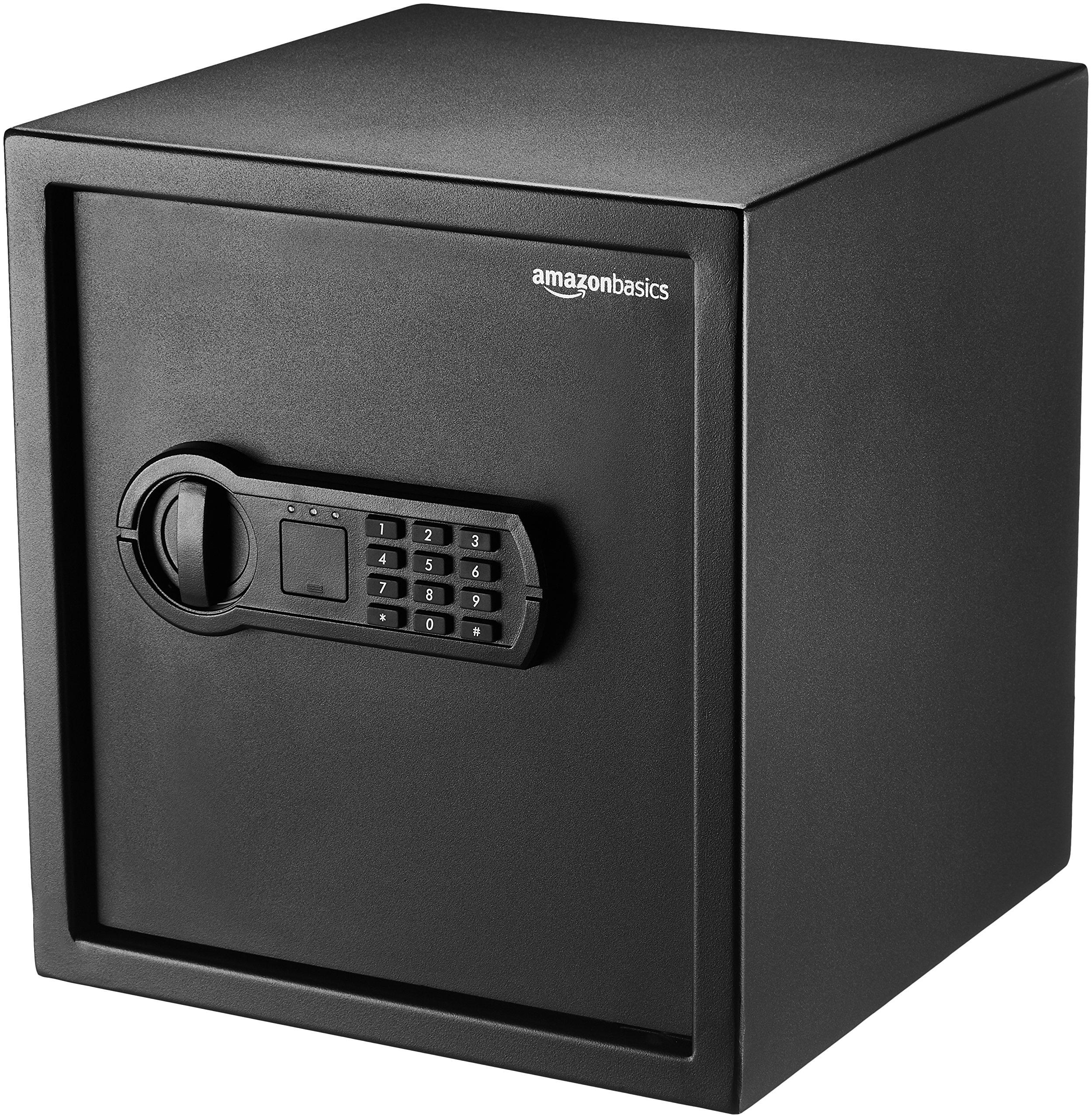 Amazon Basics Home Keypad Safe - 1.2 Cubic Feet, 13 x 13 x 14.2 Inches, Black - 36SAM