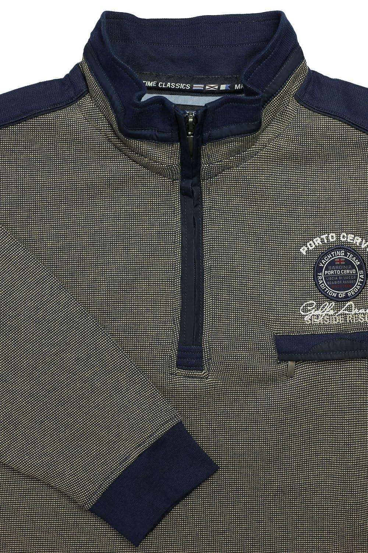 Maritimes Kitaro Sweat Shirt mit Polokragen,beige-blau B0754K15TK Sweatshirts Günstigstes Günstigstes Günstigstes 5a4778