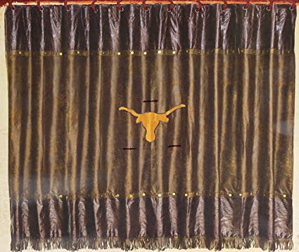 Image Unavailable Not Available For Color Western Longhorn With Barbwire Shower Curtain