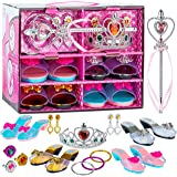 Toyvelt Princess Dress Up & Play Shoe And Jewelry Boutique (Includes 4 Pairs Of Shoes + Multiple Fashion Accessories…