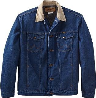 Wrangler Mens Regular Blanket Lined Denim Jacket at Amazon ...