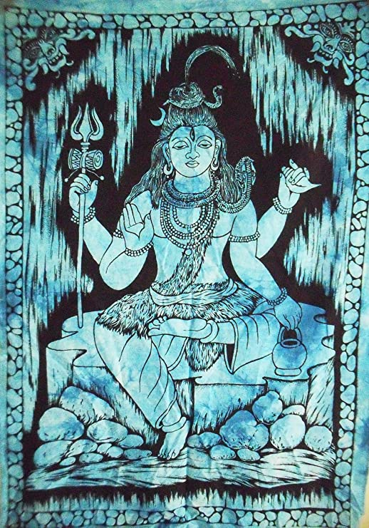 Tapestry Wall Hanging Indian Lord Shiva Decor Hippie Bohemian Throw Home Decor