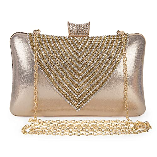 3bf09dd439618 Clocolor Evening Bags and Clutches for Women Rhinestone Crystal Clutch  Purse Wedding Bridal Handbag Party Bag: Handbags: Amazon.com