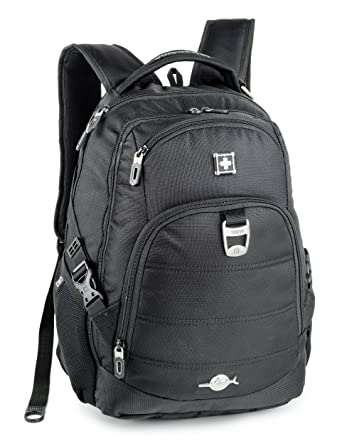 af46ca919059 Amazon.com  Geneve Backpack for Laptops Up To 15-Inch - Black  Clothing