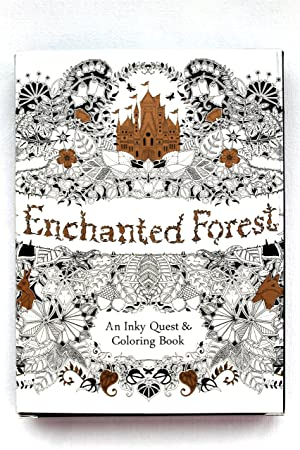 Bosque encantado para colorear libro de tarjetas postales: 30 ...