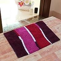 Fashion Hub Soft Handicraft Style 1 Piece Cotton Blend Bathmat Mat Set - 20x 30 Inch