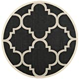 Safavieh Courtyard Collection CY6243-266 Black and
