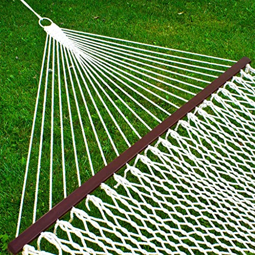CBEC 59″ Double Rope Hammock w/Wood Spreader Bar Heavy Duty 450 lbs Capacity