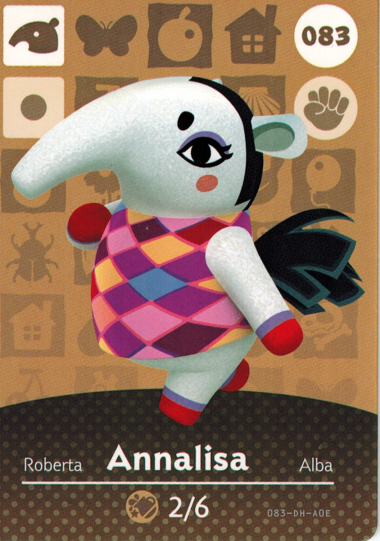 Nintendo Animal Crossing Happy Home Designer Amiibo Card Annalisa 083/100 USA Version