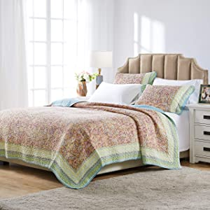 Barefoot Bungalow Palisades Pastel Quilt Set, 3-Piece King