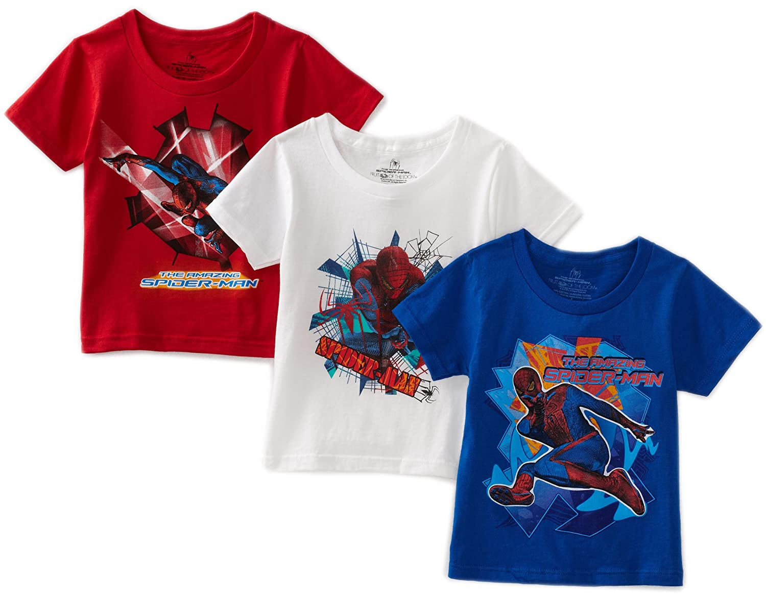 Fruit Of The Loom Little Boys' Spiderman Movie Tee Assorted 4(Pack of 3) 3PTS268