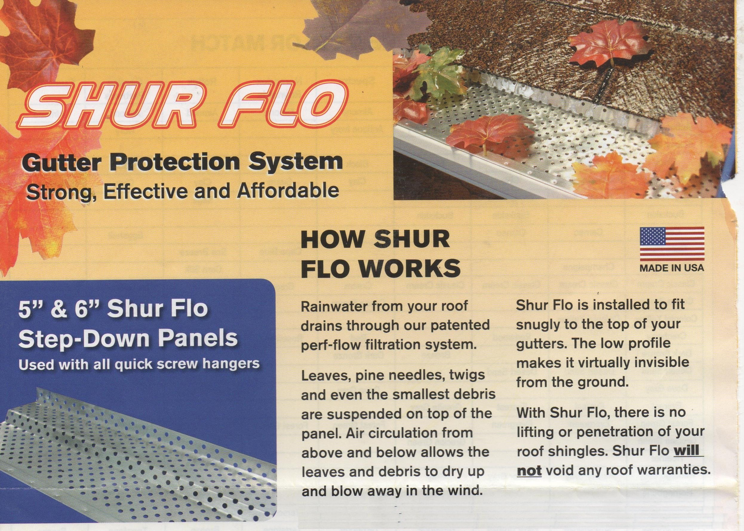 (200 feet) Shur Flo X Leaf Guard Gutter Protector for 5'' K-Style Gutters. Mill Finish Aluminum. 50 panels x 4.00' each.
