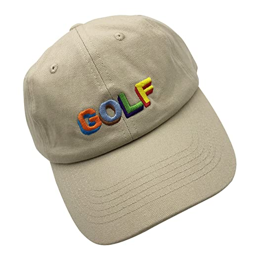 31f874e15c9 wuxianyong Golf Dad Hat Baseball Cap 3D Embroidered Adjustable Snapback  Unisex Beige