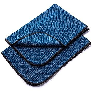 Aurum-Performance Paños de microfibra absorbentes con estructura suave de gofres – paño seco para