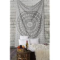 Tapiz Mandala Colgar en la Pared - Gris Tapices Decorativo Cubierta Decorativa Casera Etnica India Tapestry - Gris - 152…