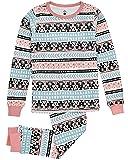 Petit Lem Girls' Big 2 Piece Set Pajama, Turquoise