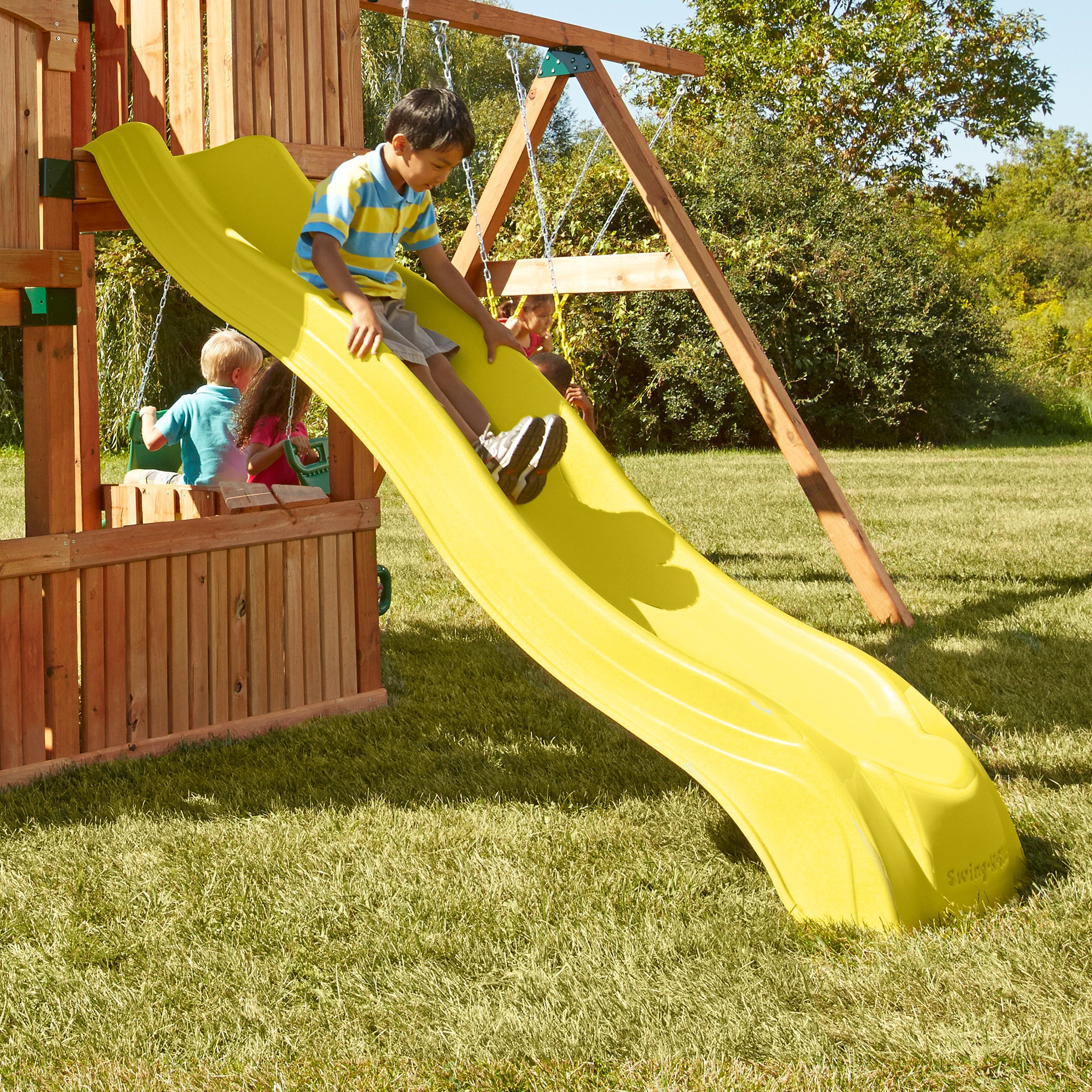 Alpine Wave Slide, Yellow by Swing-N-Slide (Image #3)