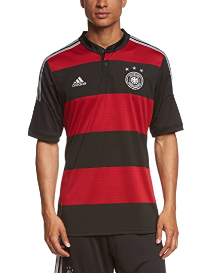 outlet store 54857 dba96 adidas Herren Trainingsshirt DFB Trikot Away WM, Schwarz   Rot, S, G74520