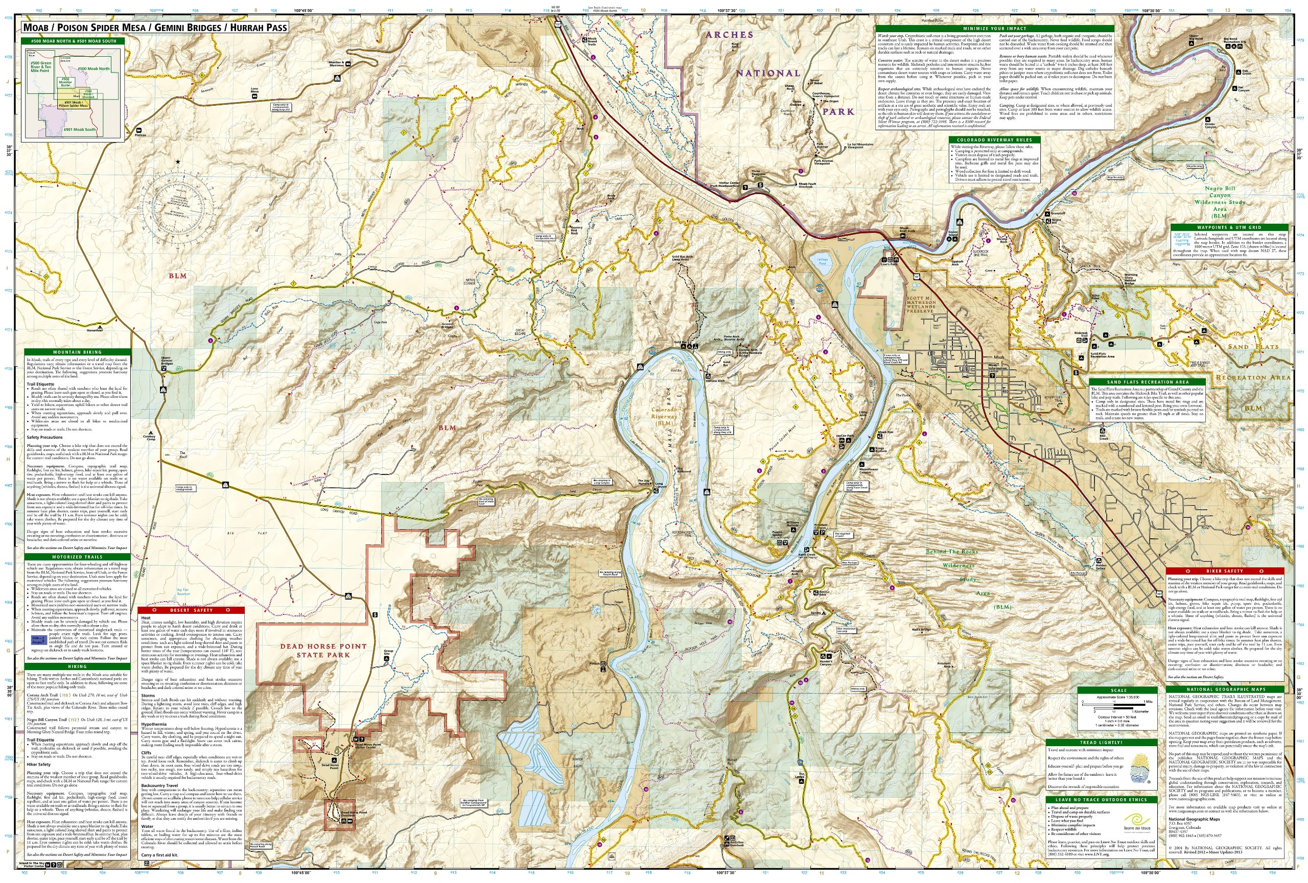 Moab South National Geographic Trails Illustrated Map National
