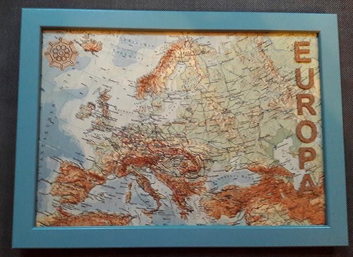 Europa Bild Atlas Karte Welt Reisegeschenk Amazonde Handmade