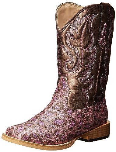 308a5b2cbd0 Roper Square Toe Glitter Leopard Western Boot (Toddler/Little Kid)