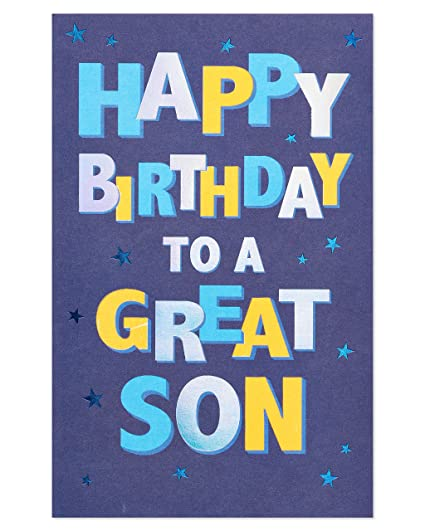 Amazon American Greetings Great Son Birthday Card For With