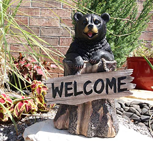 Gifts Decor 13.5″ Tall Welcome Sign Black Bear
