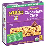 Annie's Organic Chewy Granola Bars,  Chocolate Chip, .98 oz, 6 Count, 4 Pack