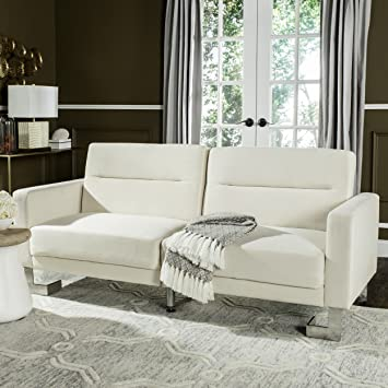 Safavieh Livingston Collection LVS2001A Tribeca Beige Foldable Sofa Bed