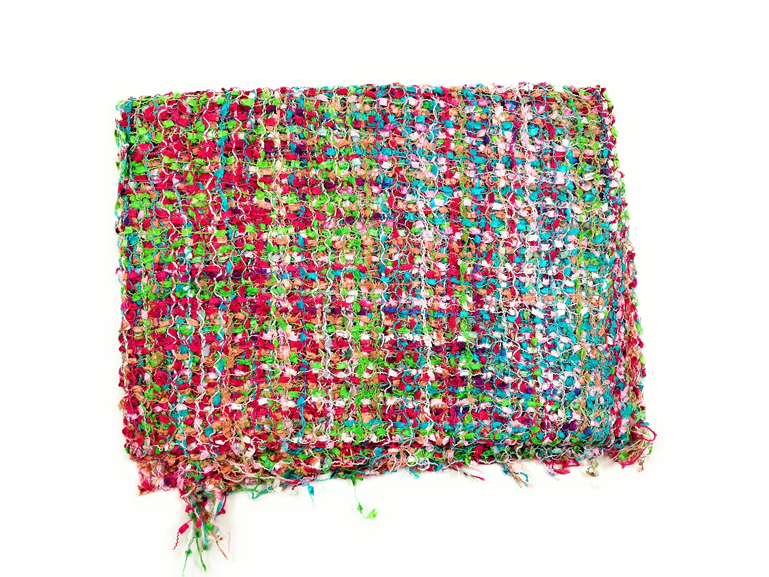 Handmade Fair Trade Confetti Neck Scarf (Pink Mix)