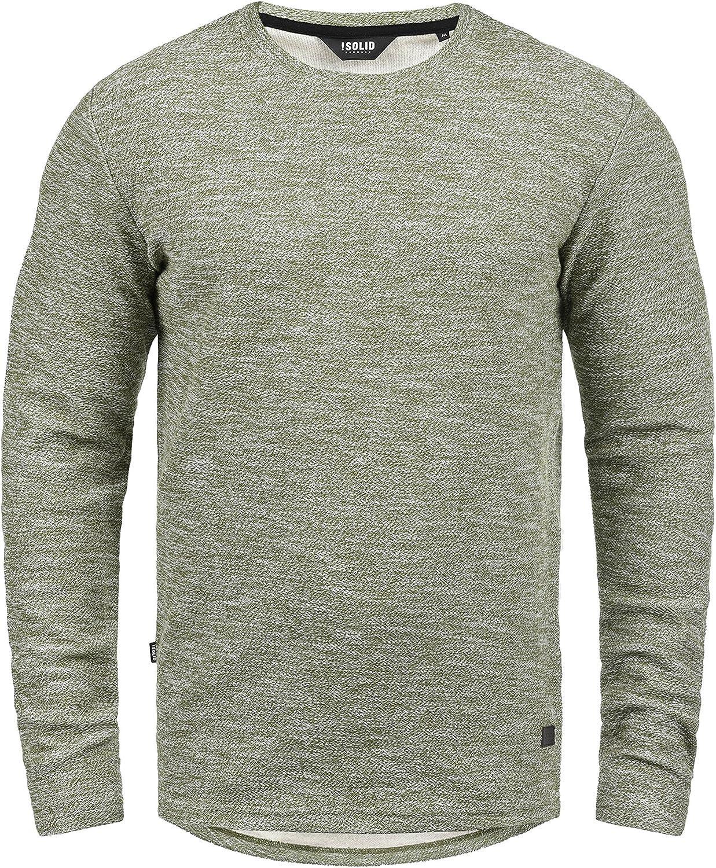 !Solid Gulliver Jersey Sudadera Suéter Para Hombre Con Cuello Redondo De 100% Algodón
