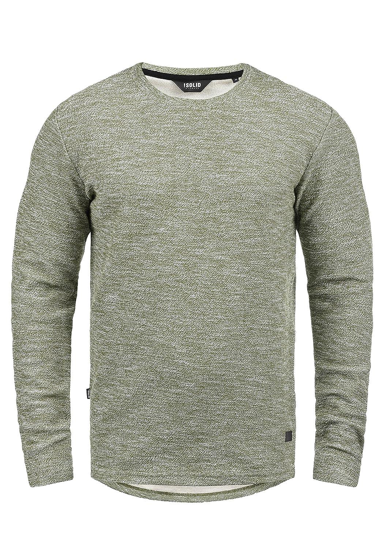 TALLA S. !Solid Gulliver Jersey Sudadera Suéter Para Hombre Con Cuello Redondo De 100% Algodón