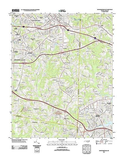 Amazon Com Topographic Map Poster Kernersville Nc Tnm Geopdf 7 5