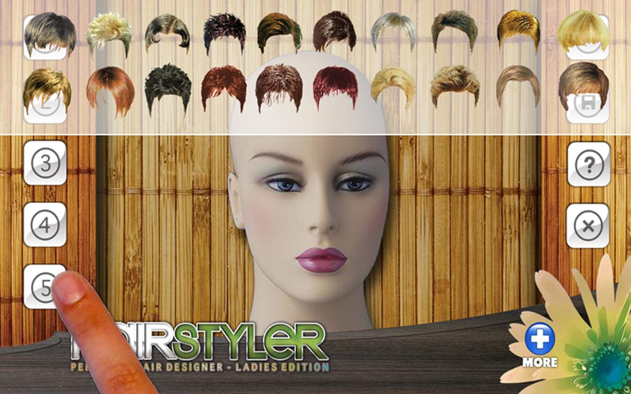 Amazon Virtual Hairstyler Style Creator Kindle Tablet Edition