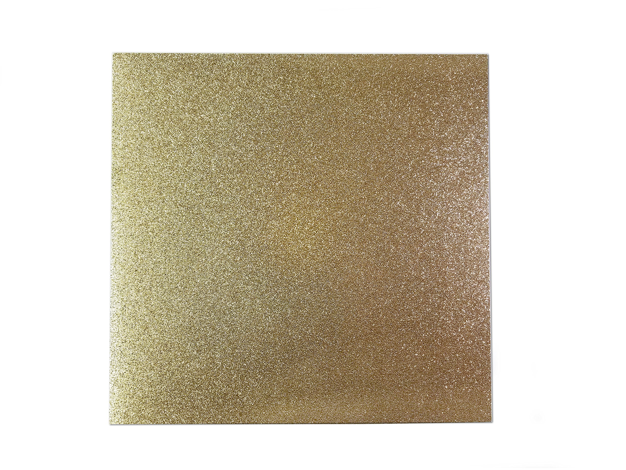 CraftMore 12x12'' Gold Glitter Cardstock 85lb 10 Pack