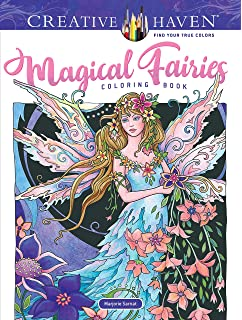 Amazon.com: Creative Haven Enchanted Fairies Coloring Book (Adult ...