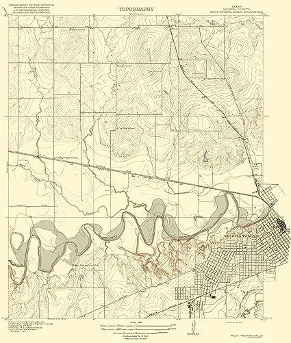Amazon.com: Topographical Map - Wichita Falls, West Texas Quad ...