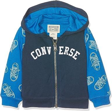 Converse Printed Full Zip Hoodie All Star Sweat Shirt À Capuche Mixte bébé
