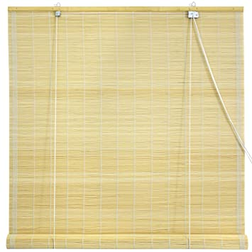 Oriental Furniture Matchstick Roll Up Blinds   Natural   (48 In. X 72 In
