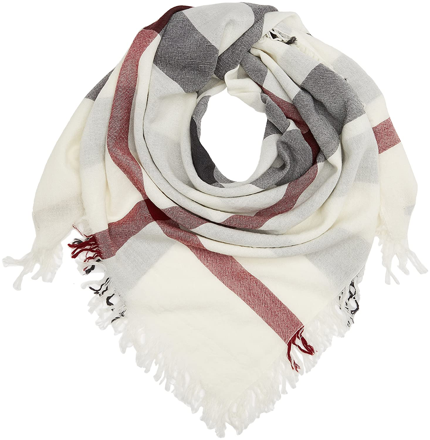 Amazon.com  BURBERRY Large Check Merino Wool Scarf  Shoes 2dc0199532