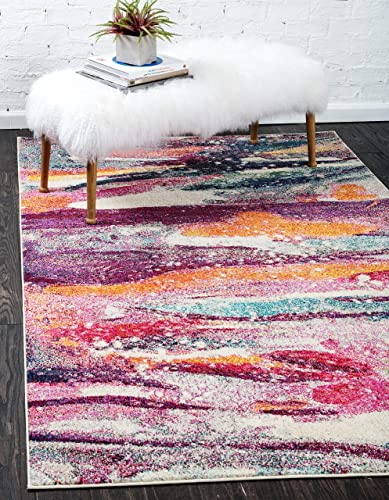 Unique Loom Chromatic Collection Modern Abstract Colorful Kids Multi Area Rug 10 6 x 16 5