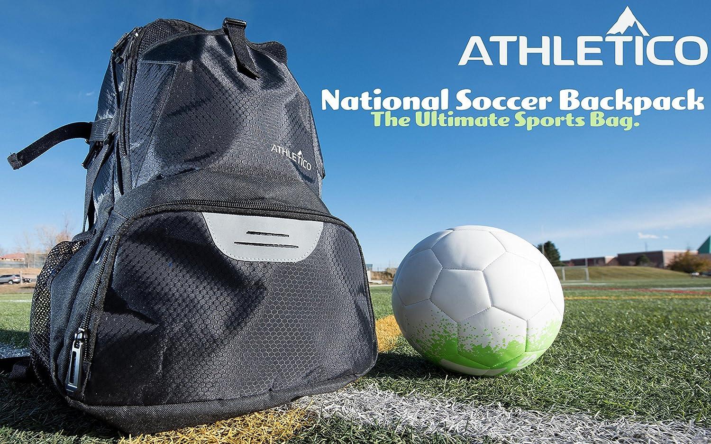 96d9991a7232 Amazon.com   Athletico National Soccer Bag - Backpack for Soccer ...
