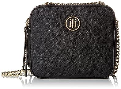Tommy Hilfiger Camera Bag Icon, Pochettes femme, (Black), 7.5x16.5x14.5 cm (B x H x T)