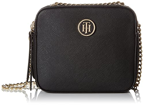 bastante agradable dde1d bfdf4 Tommy Hilfiger - Camera Bag Icon, Carteras de mano Mujer, Negro (Black),  7.5x16.5x14.5 cm (B x H x T)