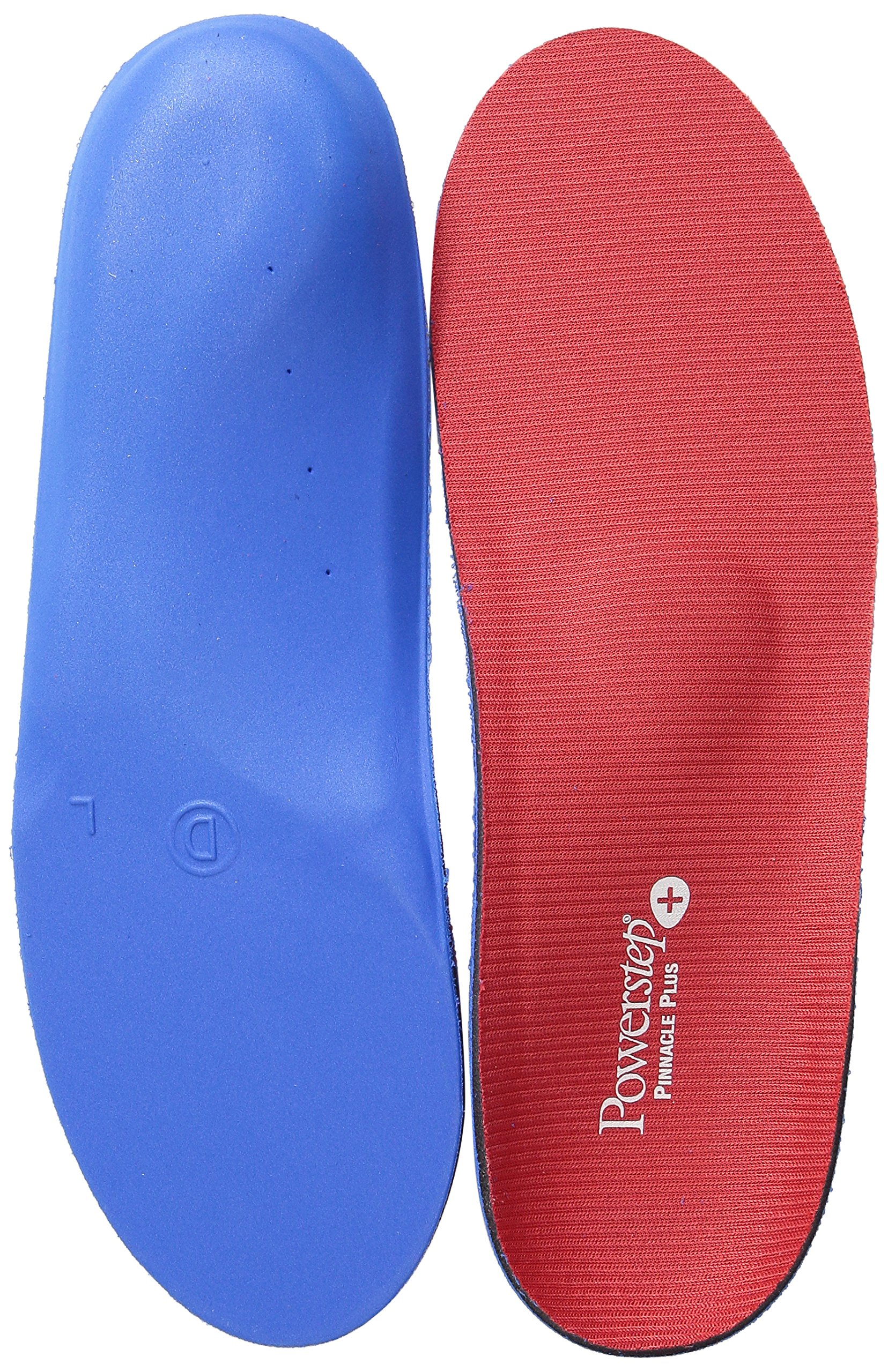 Powerstep Pinnacle Plus Full Length Orthotic Shoe Inserts - Built-In Metatarsal Support