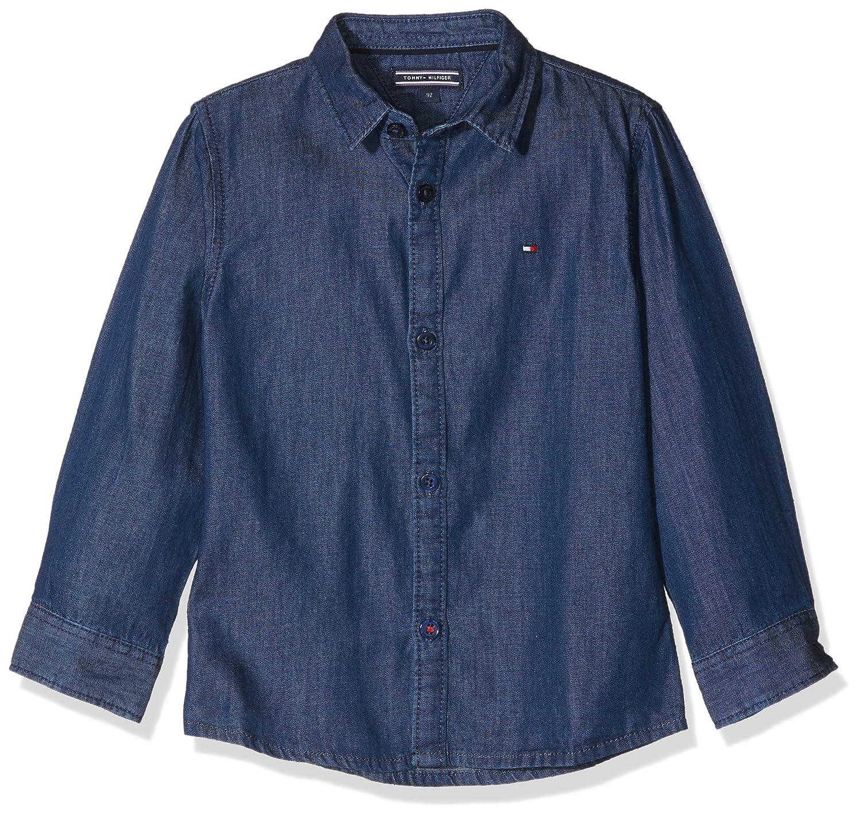 b991f557 Tommy Hilfiger Boy's H Denim Shirt L/S Blouse: Amazon.co.uk: Clothing