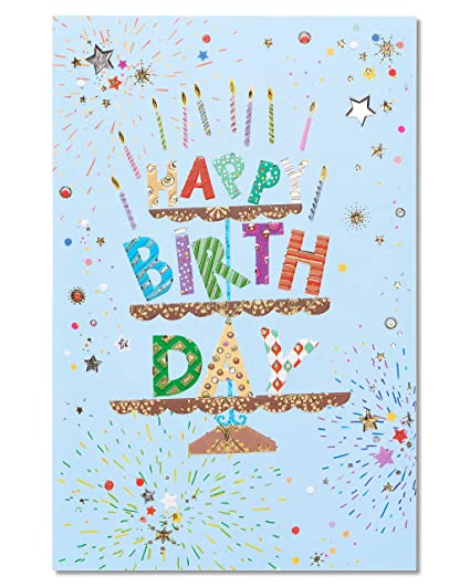 Amazon american greetings birthday greeting card for him cake american greetings birthday greeting card for him cake m4hsunfo