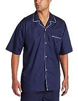 Nautica Men's Woven Mediterranean Dot Campshirt, Peacoat